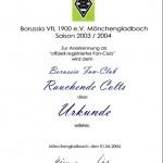 Borussia Urkunde